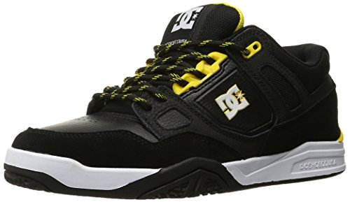 DC Men's Stag 2 Skate Shoe, Black/Yellow, 9 M US (2 Mens Skateboard Shoes)