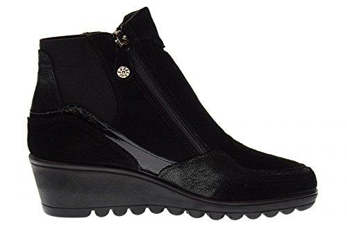 Zapatos Soft 00 Cuña Negro Las Mujeres De Enval Botas 89941 XwBP7xwq