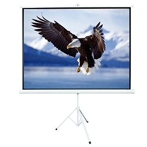 ShowMaven 100 inch 4:3 HD Projector Screen, Matte White Home Theater Education Office Presentation Projection Screen with Tripod (100 Inch 4:3 with Tripod) by ShowMaven