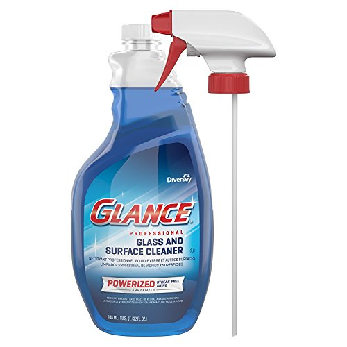 Diversey Glance Powerized Professional Glass & Surface Cleaner Capped Spray Bottle, 32 Ounces (4 Pack) (4 X 4 PACK) by Diversey