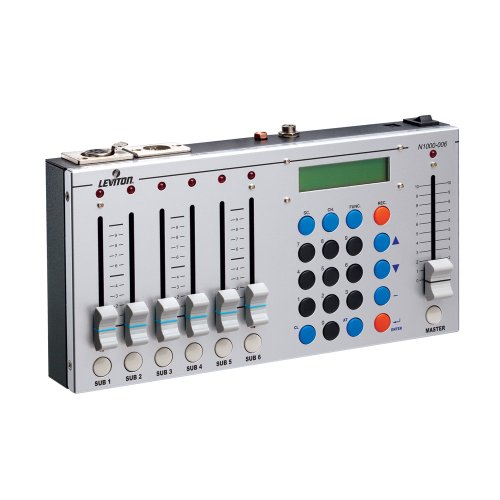 Leviton N1000-6 1000 Series DMX/Scene Controller, 6 Sub-Masters and (1) Master, 512 Channels of Control (Lighting Console Scene)