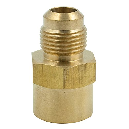 Legines Brass SAE 45 Degree Flare Tube Fitting, Female Adapter, 1/4