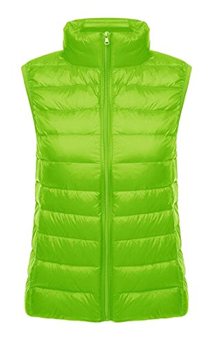 - LD Womens Ultra Light Packable Down Vest Outdoor Vest Puffer Vest Coat Fluorescent green XS