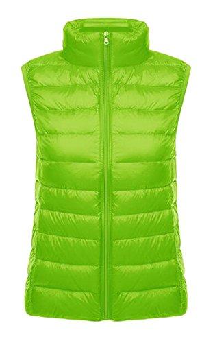 - LD Womens Ultra Light Packable Down Vest Outdoor Vest Puffer Vest Coat Fluorescent green XS
