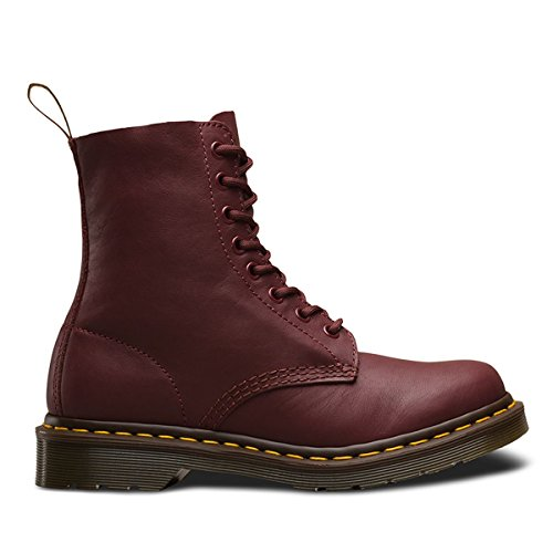 Cherry Red Shoes - Dr. Martens Women's Pascal Combat Boot, Cherry Red Virginia Leather, 6 UK/8 M US