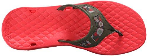 Columbia Womens Sunbreeze Vent Cruz Flip Sandaal Nori / Laser Rood