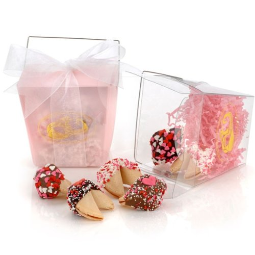 kies in Clear Take Out Pail (Valentine Fortune Cookies)