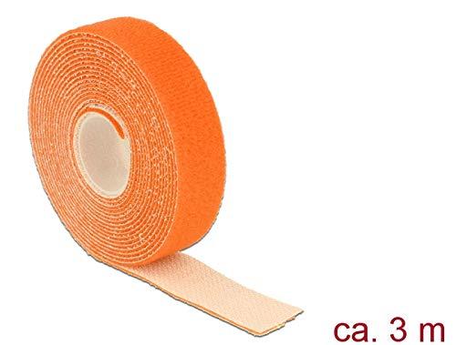 DeLOCK cavo di collegamento in velcro Chiusura 1 PZ L3 M x B20 mm Rotolo arancione 18746