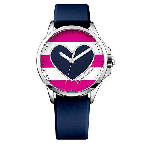 Juicy Couture Women's Navy Blue Silicone Strap Watch - 3