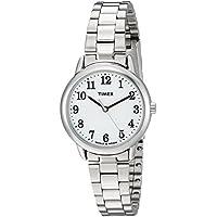 Timex Women's TW2R23700 Easy Reader Silver-Tone/White Stainless Steel Bracelet Watch