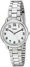 Timex Women's TW2R23700 Easy Reader 30mm Silver-Tone/White Stainless Steel Bracelet Watch