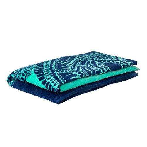 Nova Blue Turtle Beach Towel - folded