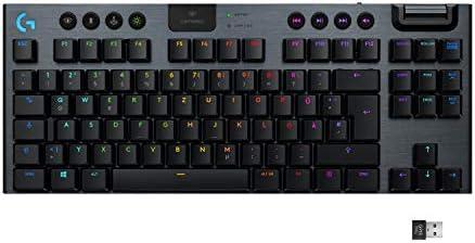 Logitech G G915 TKL Teclado Bluetooth QWERTZ Alemán Negro G915 TKL, Estándar, Bluetooth, Interruptor mecánico, QWERTZ, LED RGB, Negro