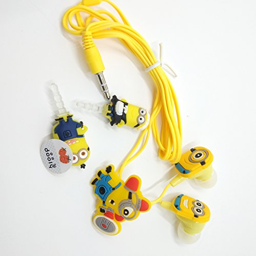 Pm0606 despicable me minions Character Ear set 3.5mm Earphones Quality Sound with a dust free cap for mobile phone , Great gift for kids, Boys, Girls, Adult Mania rare item (Despicable Me 2 Agnes Unicorn Costume)