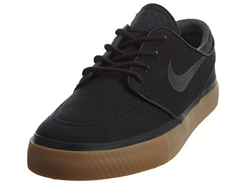 NIKE Men's Zoom Stefan Janoski Black/Anthracite/Gum Med Brown Skate Shoe (6.5 M US Big Kid)