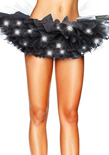 des certains avec Aimerfeel Petticoat Frilly intime taille LED Tutu 42 LED Jupe Ruffle unique 34 Femmes Mini noir Multicouche lumires Ballet vCvP7wxq