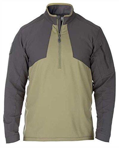 5.11 Tactical Men's Poly-Fleece Thunderbolt Half Zip Sweatshirt, Underbrush, Style 72443