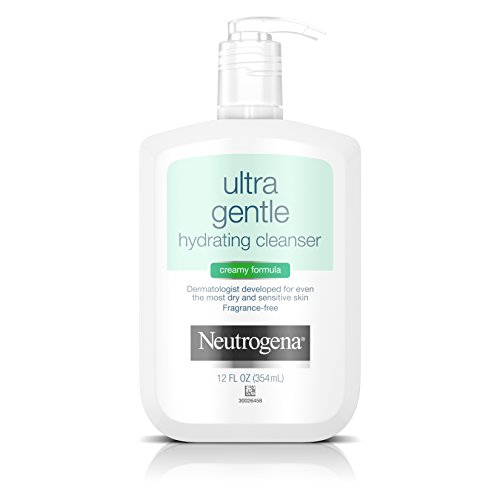Neutrogena Ultra Gentle Hydrating Cleanser For Sensitive Skin, 12 Fl. Oz. Creamy Hydrating Cleanser