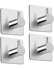 Multi-purpose Adhesive Hooks Sticking Wall Hanger 304 Stainless Steel Hook