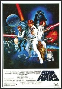 Star Wars Movie Poster Wood Framed Full Size 24x36 Print (Movie Posters Framed compare prices)