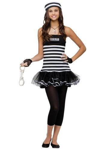 Fun World Costumes Women's Not Guilty Teen Costume, Black/White, Junior(0-9)