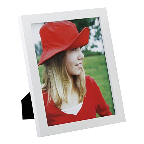 RPJC 8x10 Picture Frames Made of Solid Wood High Definition Glass for Table Top Display and Wall mounting photo frame White