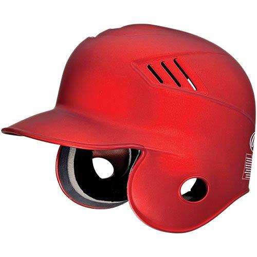 Rawlings Coolflo Matte Style Batting Helmet (Scarlet, Size Small (6 5/8 - 6 3/4)) (Rawlings Helmet Foam Batting)