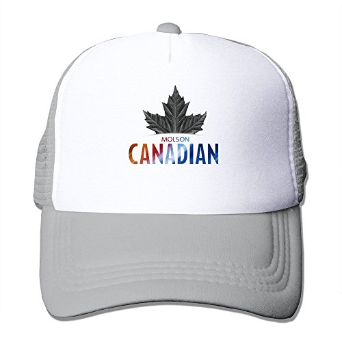 Cool Molson Canadian Trucker Mesh Baseball Cap Hat One Size Ash - Molson Dry Beer
