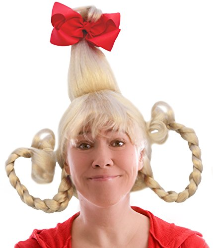 Blonde Who Girl Costume Wig With Wire -