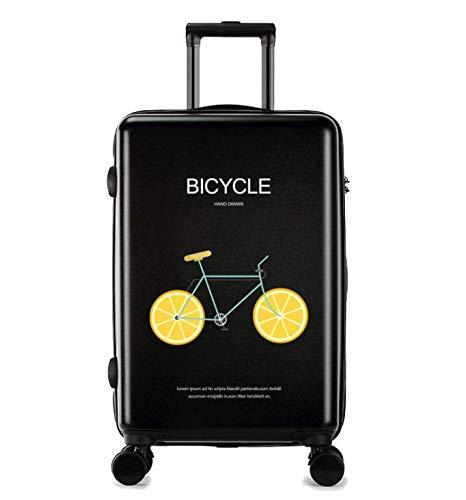 24インチ新しいファッショントロリーケースユニセックススーツケースユニバーサルホイール荷物スーツケース (Color : ブラック) B07MQP6Z4Z