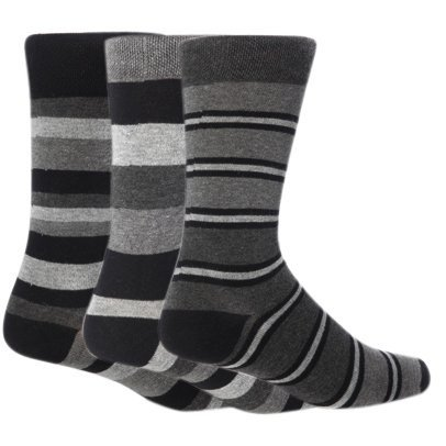 Calcetines modernos a rayas para hombre (pack de 3 pares de calcetines) - 6 opciones: Amazon.es: Ropa y accesorios