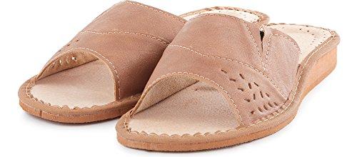 Été Sandales Pantoufles Chaussures Mules LABR34 Femme Ladeheid Beige Plates Claquettes wBTqWOp