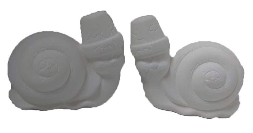 Cracked Pot Snails 5 1/2 Set of 2 Ceramic Bisque Ready to Paint CreativeKreationsCeramics