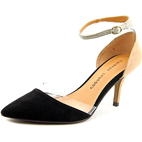 Chinese Laundry Off Limits Spitz Faux Wildleder Stöckelschuhe Black/Nude