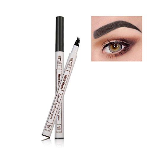 New Eyebrow - Frola New Waterproof/Smudge-proof Eyebrow Pencil Long-lasting Brow Gel for Eyes Makeup (#3 Black Grey)