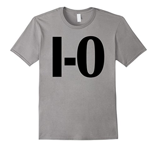 Mens I-O Couples Matching Ohio Sports Football Funny Fun T-shirt 2XL Slate