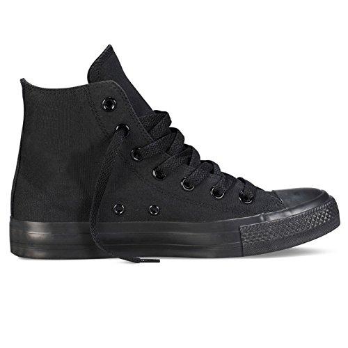 BELLACOMODA Scarpe Ginnastica Uomo Unisex Tela Sneaker Casual Nero 119-146A B341 B339 (calzano Strette)