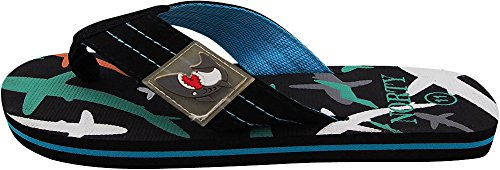 Image of NORTY Boys Shark Flip Flop Thong Sandal Perfect for The Beach, Pool, Everyday - Runs One Size Small