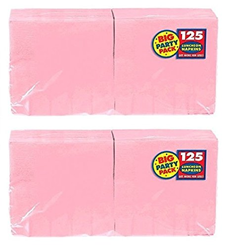 Amscan Big Party Pack 250 Count Luncheon Napkins, New Pink by amscan