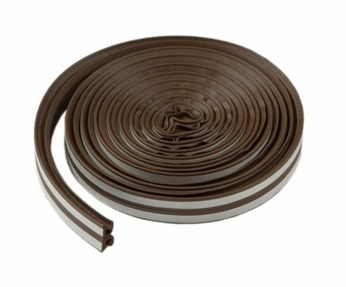 MD Building Products 43848 17in. All-Climate Thermalblend Weatherseal - Wave Profile Brown 3 Pack