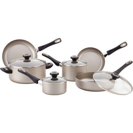 Farberware Dishwasher Safe High Performance Nonstick 15-Piece Cookware Set, - 6 Quart Pan Farberware