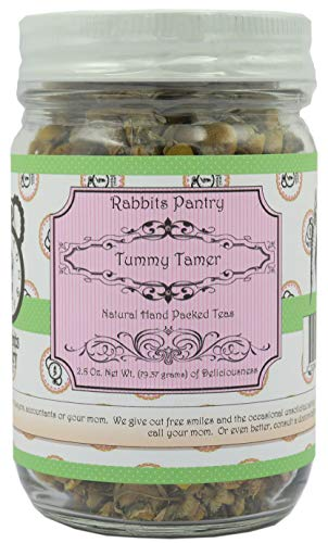 Rabbits Pantry - Tummy Tamer Herbal Loose Leaf Tea - NON GMO - Helps with Stomach Pain, Sore Throat, Throat Pain, and Upset Stomach