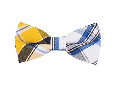 Born to Love - Boys Kids Pre Tied Bowtie Christmas Holiday Party Dress Up Bow Tie (Medium, Blue Yellow (M Dress Up Ideas)