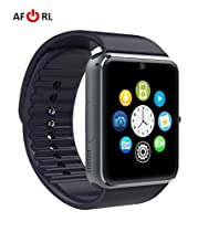 Amazingforless Bluetooth Touch Screen Smart Wrist Watch Phone with Camera - Black