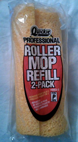 QUICKIE PROFESSIONAL ROLLER MOP REFILL 2-PACK #0553-2 TYPE - Quickie Mop Refill Type Ii