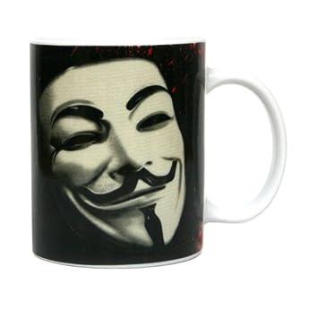 SD toys SDTWRN27542 - V de Vendetta, Mascara, taza de cerámica (SDTWRN27542)