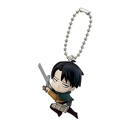Amazon.com: Attack on Titan Swing Key Chain Figure Bandai ...