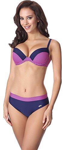 aQuarilla Bikini Conjunto para Mujer AQ130 Nevy Azul/Rosa