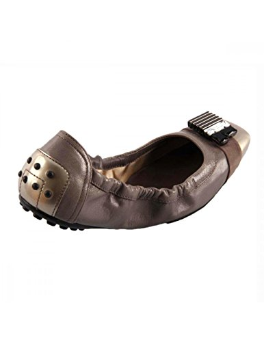 Tods Ladies Ballerina Xxw0dk0a860a9ber56 Taupe
