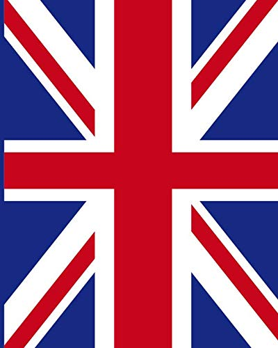 British Union Jack Notebook: College Ruled Writer's Notebook for School, the Office, or Home! (8 x 10 inches, 120 pages)